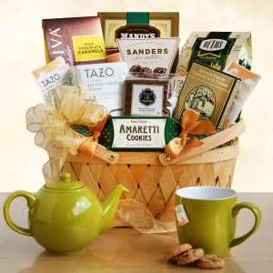 Holiday Tazo Tea and Dessert Basket imagerjs