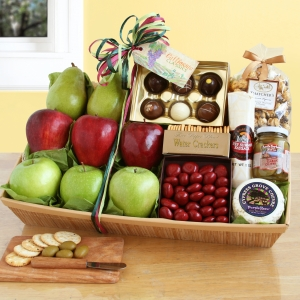 Fruit & Snacks Galore Gift Basket imagerjs