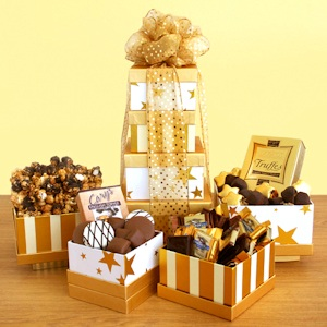 Golden Star Chocolate Tower imagerjs