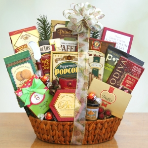 Festive Holiday Party Gift Basket imagerjs