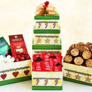 Holiday Sweets Tower Gift Basket imagerjs