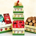 Holiday Sweets Tower Gift Basket
