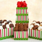 Holiday Striped Dessert Tower