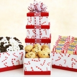 Candy Cane Tower of Holiday Treats