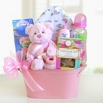 Cuddly Welcome Baby Gift Basket