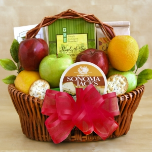 Fresh Fruit & Snacks Gift Basket imagerjs