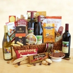 California Splendor Holiday Wine Gift Basket