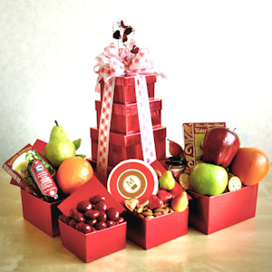 Heights of Love Valentine Fruit and Snacks Tower imagerjs