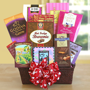 Happy Valentine's Day Gourmet Basket imagerjs