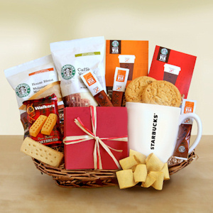 Starbucks Holiday Coffee Basket imagerjs