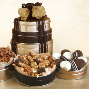 Signature Round Tin Snack Tower imagerjs