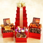 Godiva Holiday Red Tower of Chocolates