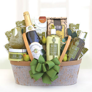 Holiday Organic Olive Oil Spa & Gourmet Basket imagerjs