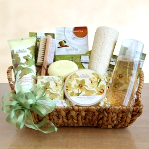 Mother's Day Orchid Spa Basket imagerjs