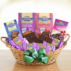 Ghirardelli Chocolate Bliss Gift Basket imagerjs