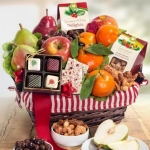 Country Treasures Holiday Fruit Gift Basket