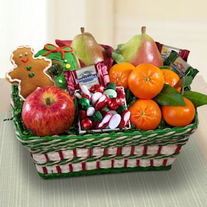 Jolly Holiday Fruit and Snack Basket imagerjs