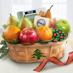 Merry Christmas Fruit and Snacking Basket imagerjs