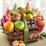Orchard Delight Fruit and Snack Gourmet Basket