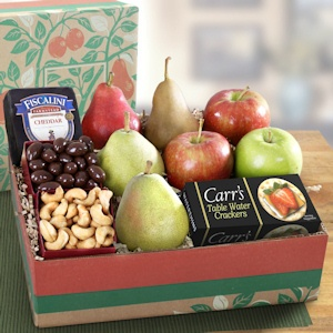 Deluxe Fruit & Cheese Holiday Gift Box imagerjs