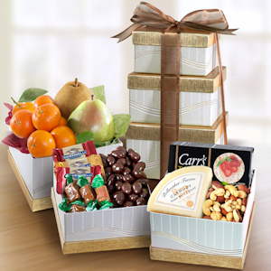 Holiday Elegance Fruit and Cheese Snack Tower imagerjs