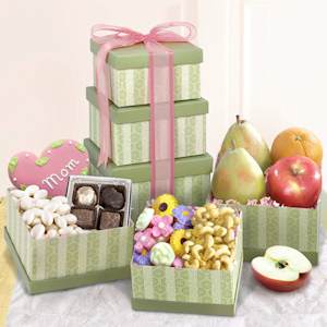 Mother's Day Sweet Wishes Fruit Tower imagerjs