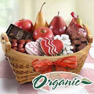 Organic Valentine Fruit and Sweets Tray imagerjs
