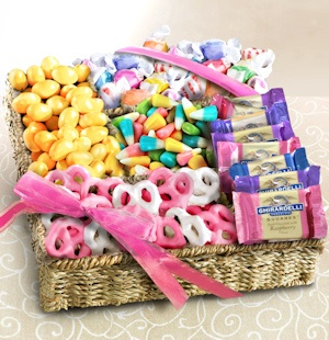 Spring Sweet Treats and Chocolate Gift Basket imagerjs