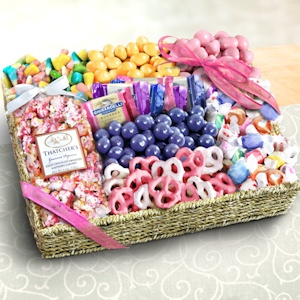 Spring Chocolate Sweets and Crunch Grand Gift Basket imagerjs