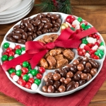Holiday Chocolate Candies in Keepsake Ceramic Serving Tray