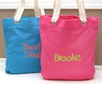 Custom Canvas Beach Tote (4 Colors)