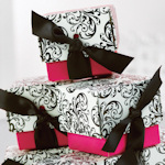Fuchsia Filigree Baby Shower Favor Boxes (Set of 25)