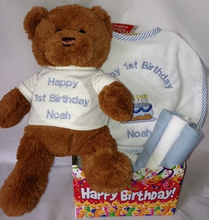 It's Fun to be One Personalized First Birthday Gift Set (Pin imagerjs
