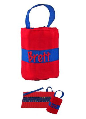 Personalized Big Brother Red and Blue Crayon Keeper imagerjs