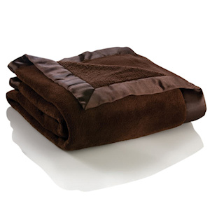 Personalized Chocolate Brown Plush Blanket imagerjs