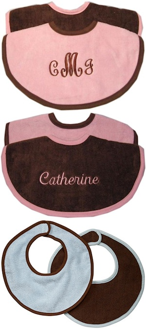 Personalized Chocolate Bib Set imagerjs