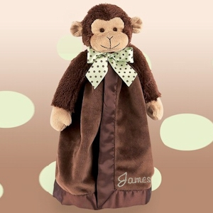 Personalized Monkey Security Blanket imagerjs