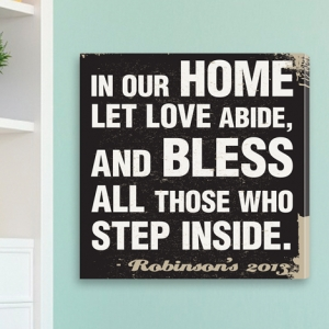 Personalized In Our Home Canvas Print imagerjs