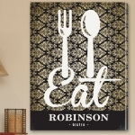 Personalized Family Bistro Canvas Eat Print