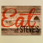 Personalized Reclaimed Kitchen Canvas Eat Print