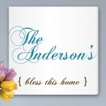 Simple Bless this Home Personalized Canvas