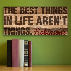 Personalized Best Things In Life Canvas Print imagerjs