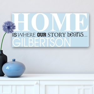 Home is Where Our Story Begins Canvas imagerjs