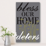Vertical Bless This Home Canvas Print
