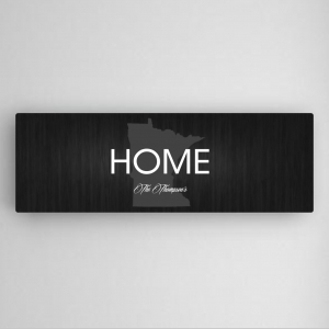 Personalized State Pride Black Canvas Print imagerjs