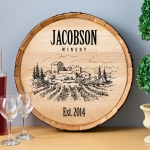 Personalized Wine Barrel Signs (6 Designs)
