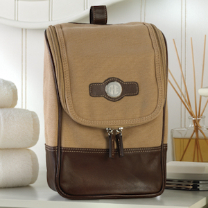 Personalized Canvas and Leather Travel Kit imagerjs