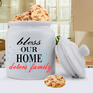 Bless Our Home Personalized Cookie Jar imagerjs