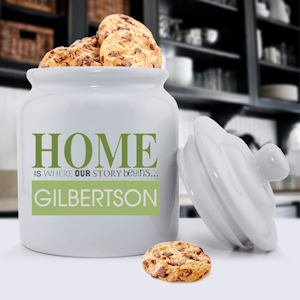 Our Story Begins Personalized Cookie Jar imagerjs