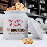 Family Cookies Personalized Cookie Jar